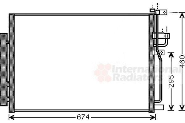 Condenseur, climatisation - VAN WEZEL - 37005436