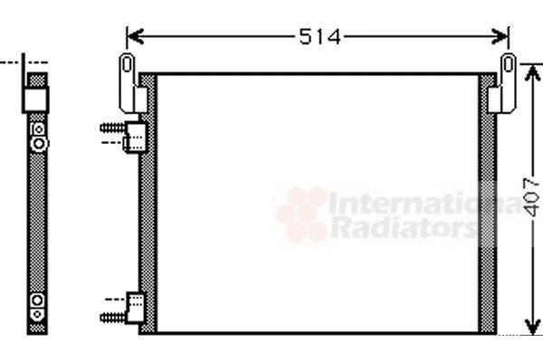 Condenseur, climatisation - VAN WEZEL - 37005452