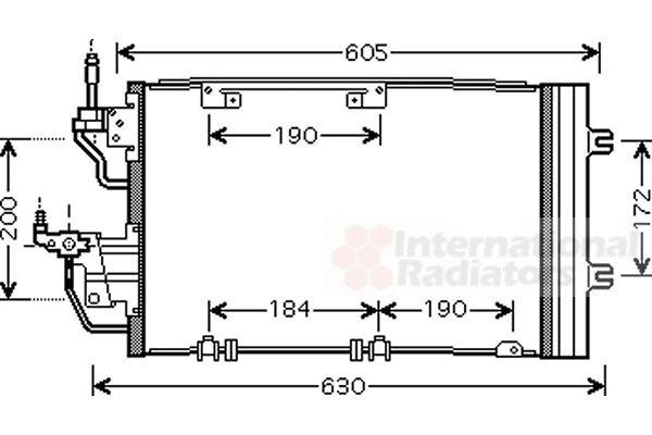 Condenseur, climatisation - VAN WEZEL - 37005454