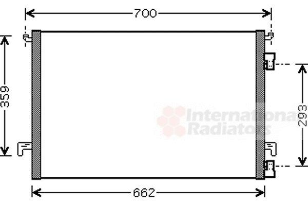 Condenseur, climatisation - VAN WEZEL - 37005457