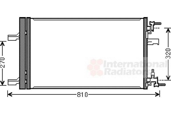 Condenseur, climatisation - VAN WEZEL - 37005499