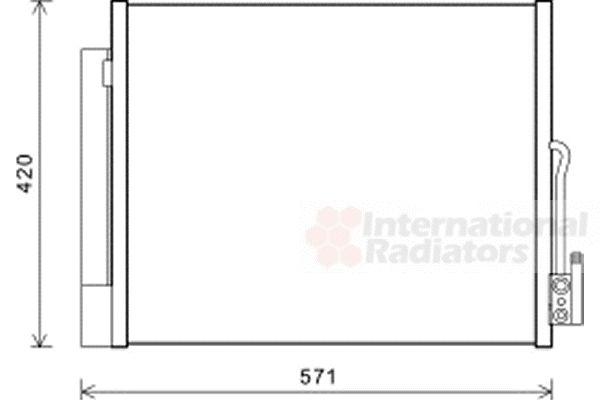Condenseur, climatisation - VAN WEZEL - 37005560