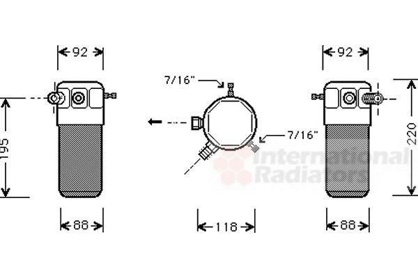 Filtre déshydratant, climatisation - VAN WEZEL - 3700D118