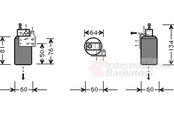 Filtre déshydratant, climatisation - VAN WEZEL - 3700D143
