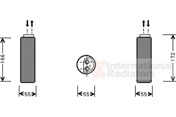 Filtre déshydratant, climatisation - VAN WEZEL - 3700D153