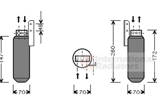 Filtre déshydratant, climatisation - VAN WEZEL - 3700D164