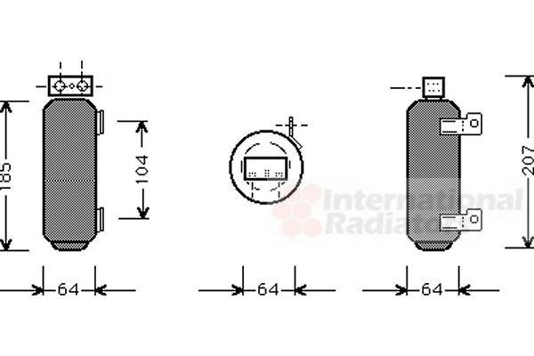 Filtre déshydratant, climatisation - VAN WEZEL - 3700D282