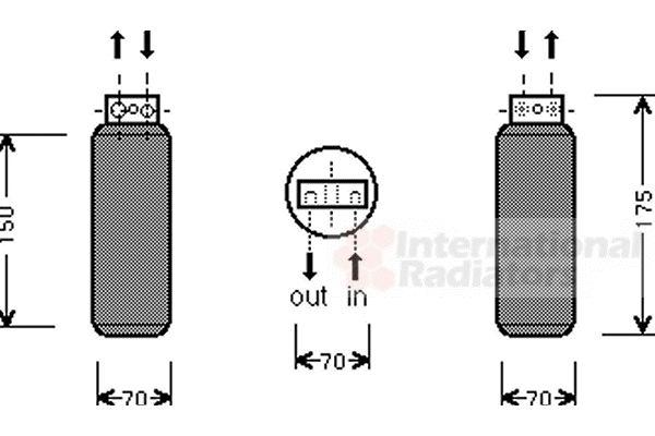 Filtre déshydratant, climatisation - VAN WEZEL - 3700D288