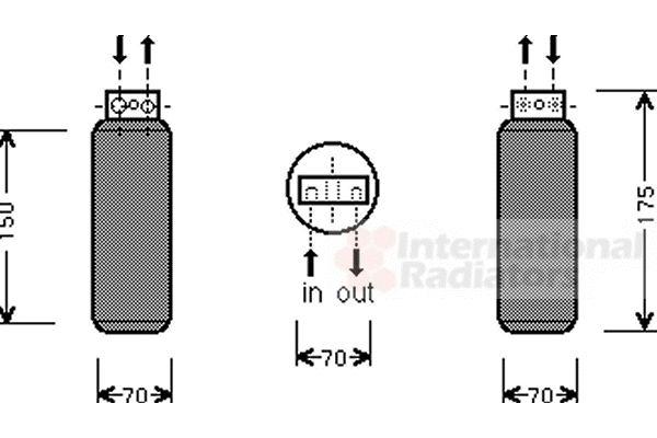 Filtre déshydratant, climatisation - VAN WEZEL - 3700D291
