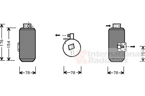 Filtre déshydratant, climatisation - VAN WEZEL - 3700D292