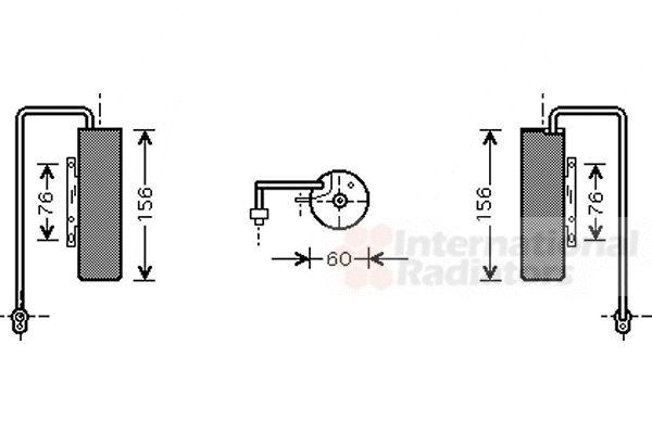 Filtre déshydratant, climatisation - VAN WEZEL - 3700D336