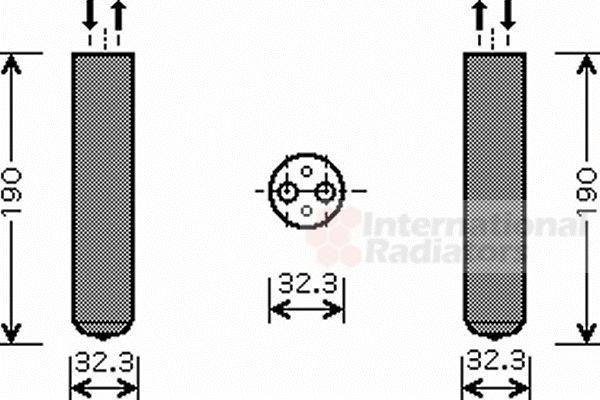 Filtre déshydratant, climatisation - VAN WEZEL - 3700D343