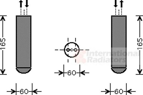Filtre déshydratant, climatisation - VWA - 88VWA3700D351