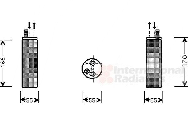 Filtre déshydratant, climatisation - VAN WEZEL - 3700D371