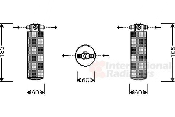 Filtre déshydratant, climatisation - VAN WEZEL - 3700D393