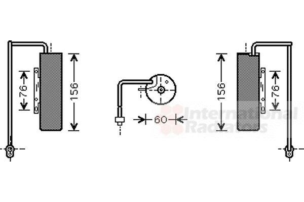 Filtre déshydratant, climatisation - VAN WEZEL - 3700D453