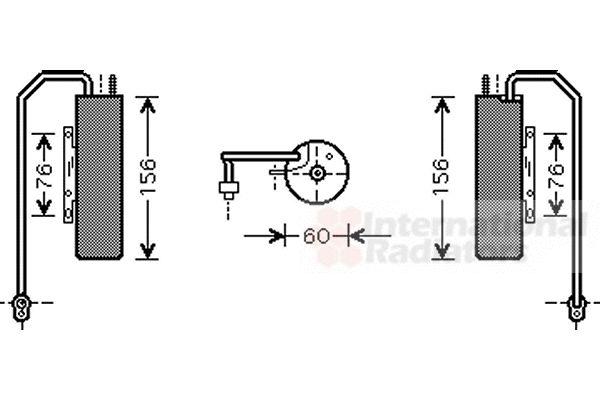 Filtre déshydratant, climatisation - VAN WEZEL - 3700D458