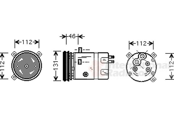 Compresseur, climatisation - VAN WEZEL - 3700K278