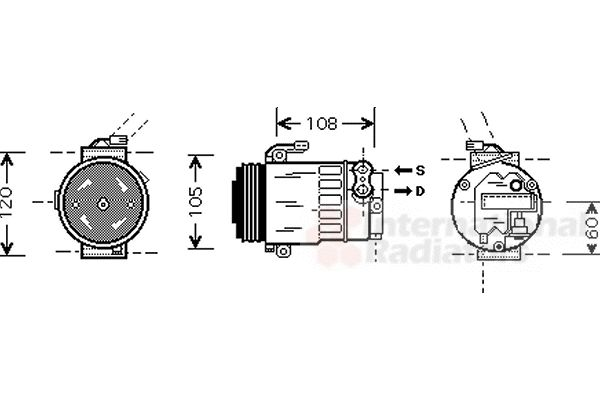 Compresseur, climatisation - VWA - 88VWA3700K350