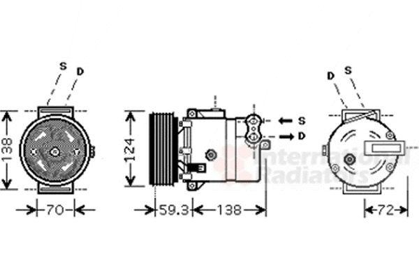Compresseur, climatisation - VWA - 88VWA3700K413