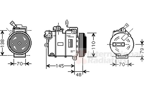 Compresseur, climatisation - VAN WEZEL - 3700K459