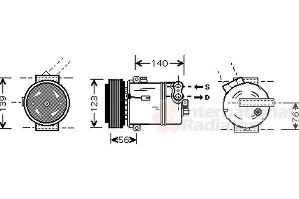 Compresseur, climatisation - VWA - 88VWA3700K463