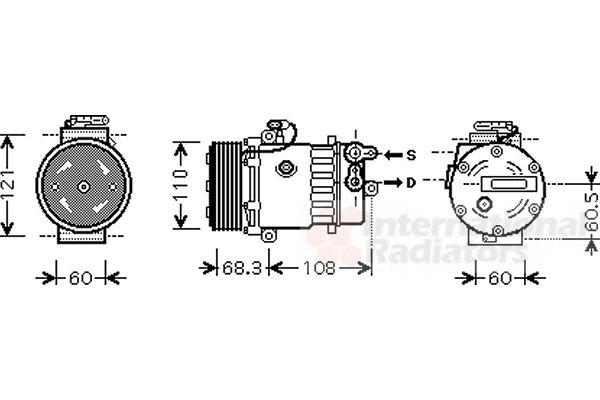 Compresseur, climatisation - VWA - 88VWA3700K464