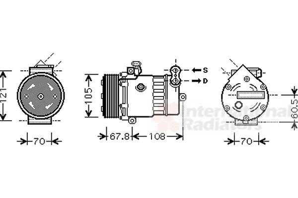 Compresseur, climatisation - VWA - 88VWA3700K477