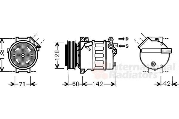 Compresseur, climatisation - VAN WEZEL - 3700K543