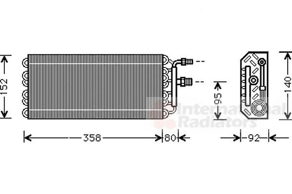 Evaporateur climatisation - VAN WEZEL - 3700V049