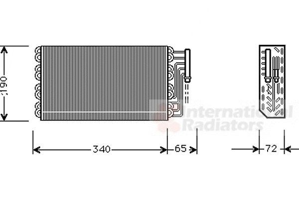 Evaporateur climatisation - VAN WEZEL - 3700V088