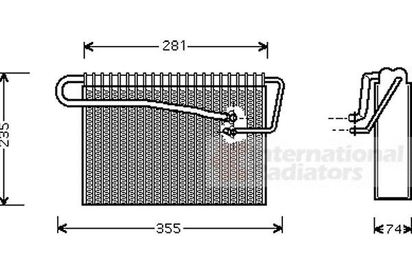 Evaporateur climatisation - VAN WEZEL - 3700V167