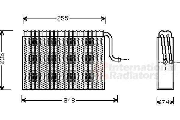 Evaporateur climatisation - VAN WEZEL - 3700V171