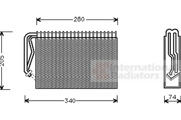 Evaporateur climatisation - VAN WEZEL - 3700V289