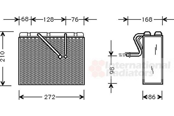 Evaporateur climatisation - VAN WEZEL - 3700V300
