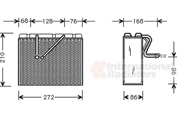 Evaporateur climatisation - VAN WEZEL - 3700V301