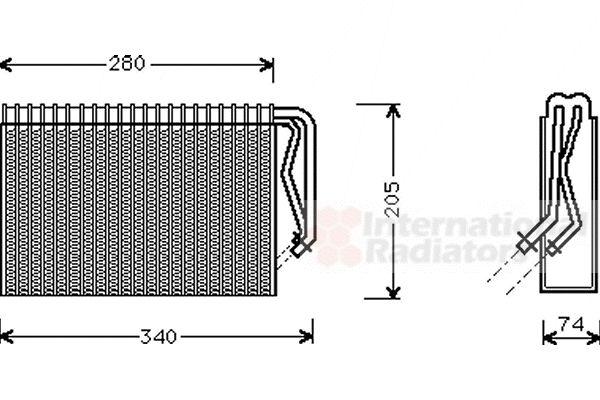 Evaporateur climatisation - VAN WEZEL - 3700V311