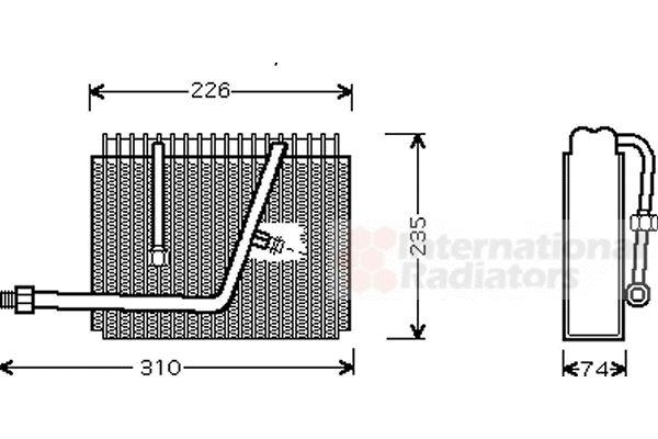 Evaporateur climatisation - VAN WEZEL - 3700V320