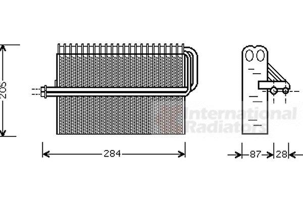 Evaporateur climatisation - VAN WEZEL - 3700V344