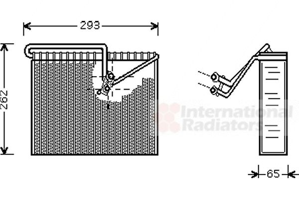 Evaporateur climatisation - VAN WEZEL - 3700V372
