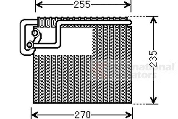 Evaporateur climatisation - VAN WEZEL - 3700V481