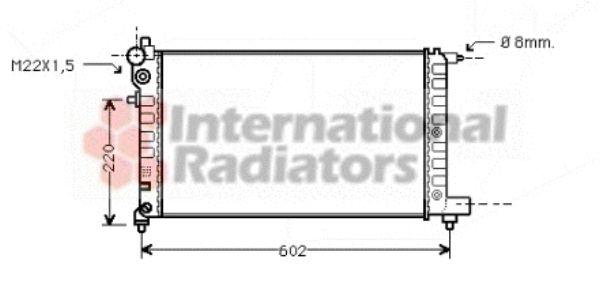 Radiateur, refroidissement du moteur - VAN WEZEL - 40002004