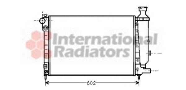 Radiateur, refroidissement du moteur - VAN WEZEL - 40002014
