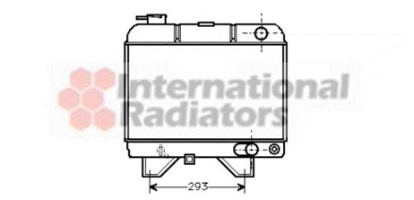 Radiateur, refroidissement du moteur - VAN WEZEL - 40002021