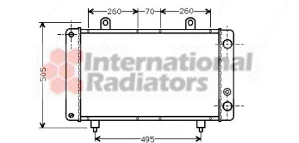 Radiateur, refroidissement du moteur - VAN WEZEL - 40002032