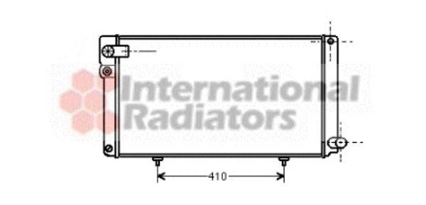 Radiateur, refroidissement du moteur - VAN WEZEL - 40002042