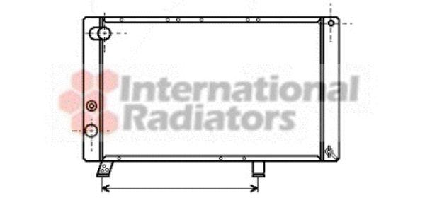 Radiateur, refroidissement du moteur - VAN WEZEL - 40002043