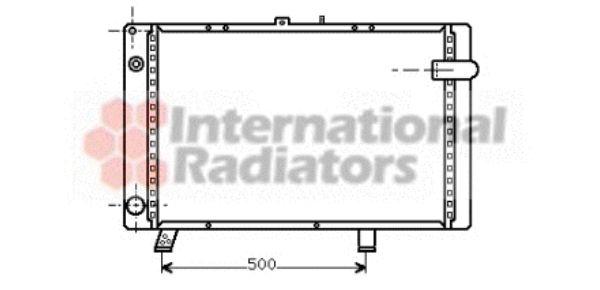 Radiateur, refroidissement du moteur - VAN WEZEL - 40002044