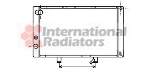 Radiateur, refroidissement du moteur - VAN WEZEL - 40002057
