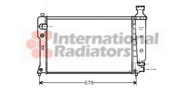 Radiateur, refroidissement du moteur - VAN WEZEL - 40002068